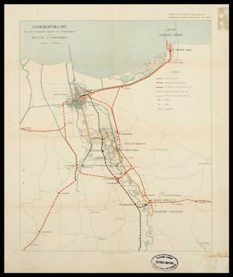 Kaart Van Batavia 1908