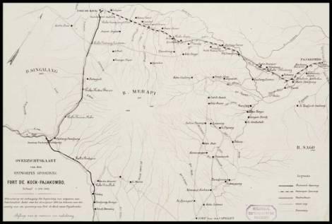 Overzichtskaart-van-den-ontworpen-spoorweg-Fort-de-Kock-Pajakombo-1894